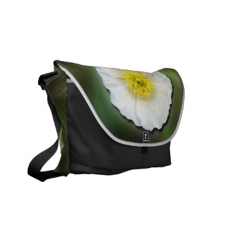 White Poppy Blur; No Text Courier Bags