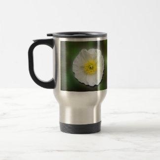White Poppy Blur; No Text Mugs