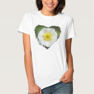 White Poppy Blur; No Text T-Shirt