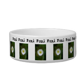 White Poppy Blurred Background; Customizable Bowl