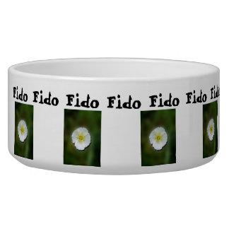 White Poppy Blurred Background; Customizable Bowl