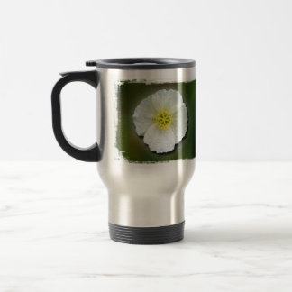 White Poppy Blurred Background Mug