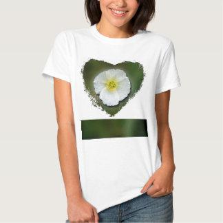 White Poppy Blurred Background T-Shirt