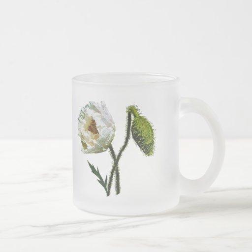White Poppy Coffee Mugs