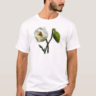 White Poppy Mens T-Shirt