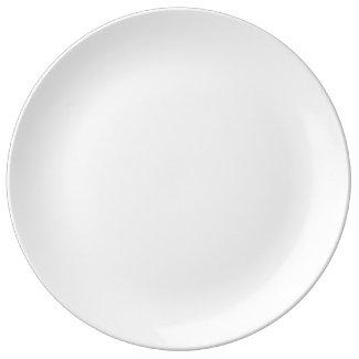 White Porcelain Dinner Plate