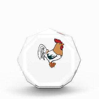 white poultry acrylic award