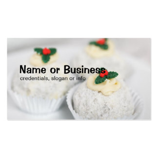 White Powdered Christmas cakes Business Card