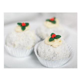 White Powdered Christmas cakes Postcard