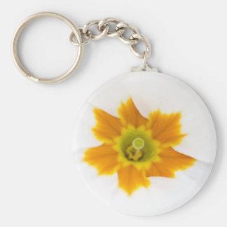 White Primula Keychain