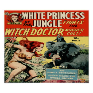 White Princess of the Jungle -Witch Doctor- Poster