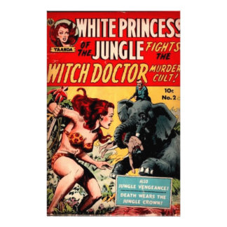 White Princess Vintage Sci Fi Comic Cover Art Stationery