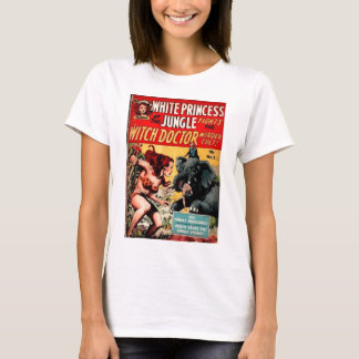 White Princess Vintage Sci Fi Comic Cover Art T-Shirt
