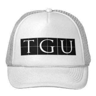 White Printed Hat