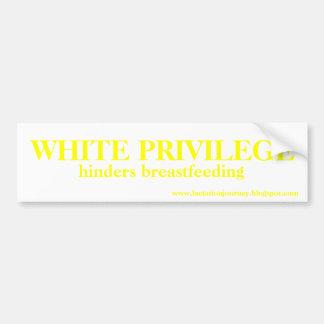 WHITE PRIVILEGE HINDERS BUMPER STICKER