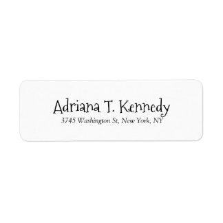 White Professional Elegant Simple Modern Label
