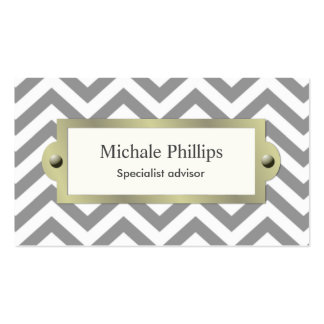 White professional serious classic elegant window business card