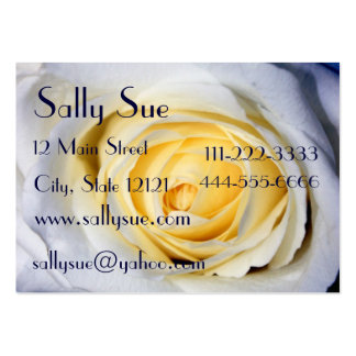 White Profile Card Large Business Card