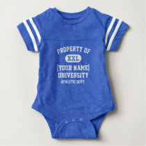 White Property of [Your Name] University Funny Baby Bodysuit