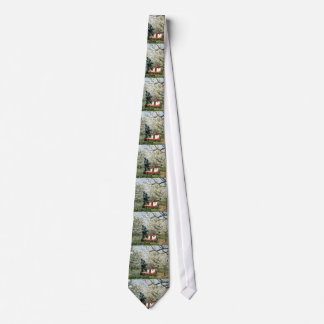 white Pruning peach trees flowers Neckwear