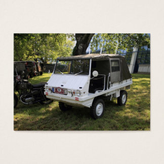 White Puch Haflinger Business Card