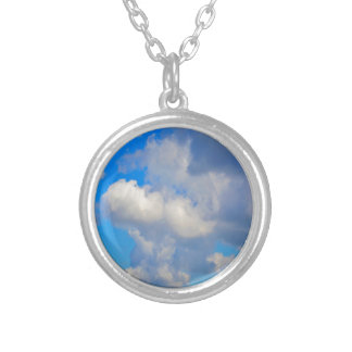 White Puffs in The Sky Silver Plated Necklace