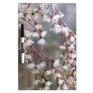 white puffs of flowers streaming downwards Dry-Erase board