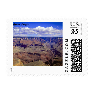 White puffy clouds hanging over the Grand Canyon Postage