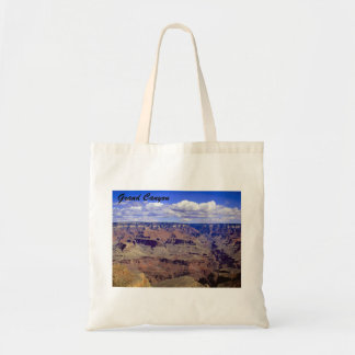 White puffy clouds over the Grand Canyon Tote Bag