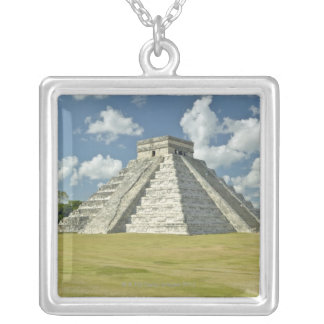 White puffy clouds over the Mayan Pyramid Custom Jewelry