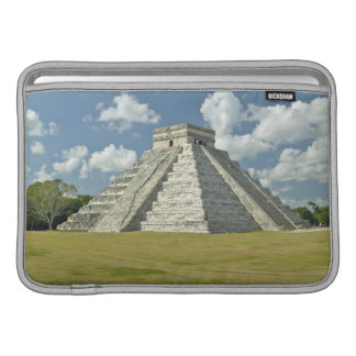 White puffy clouds over the Mayan Pyramid Sleeves For MacBook Air