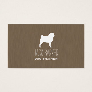 White Pug Silhouette Business Card