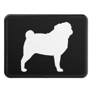 White Pug Silhouette Hitch Cover