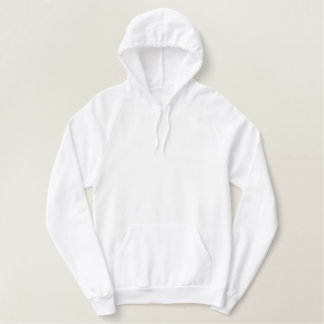 White Pullover Fleece Hoodie - option to customize