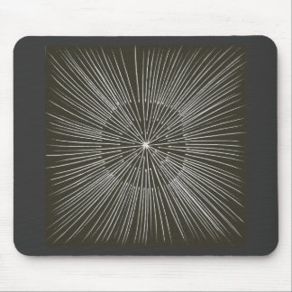 White Pulsating Strokes on Black Mousepads