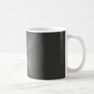 White Pulsating Strokes on Black Mugs