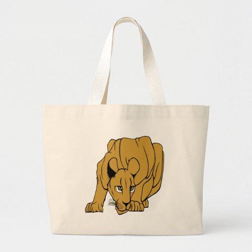 White Puma Cougar Panther Mountain Lion Jumbo Tote Bag
