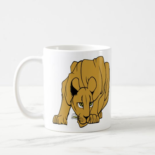 White Puma Cougar Panther Mountain Lion Coffee Mug