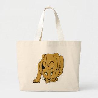 White Puma Cougar Panther Mountain Lion Large Tote Bag