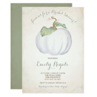 White Pumpkin Bridal Shower Invitation