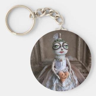 White Pumpkin Doll Keychain