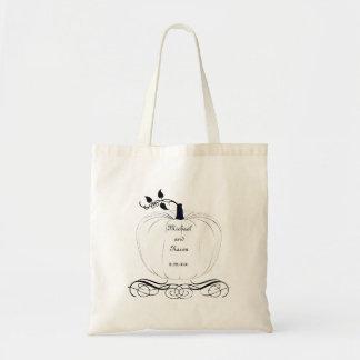 White Pumpkin Wedding Tote Bag