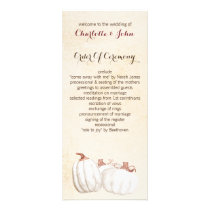 white pumpkins fall harvest wedding programs