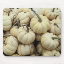White Pumpkins Mouse Pad