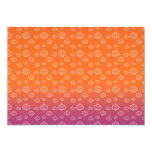 "White pumpkins on orange purple fade 5"" x 7"" invitation card"
