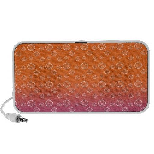 White pumpkins on orange purple fade iPod speakers