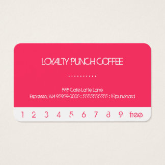 White Punch Loyalty Coffee Card