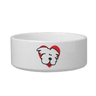 White Puppy Heart Bowl