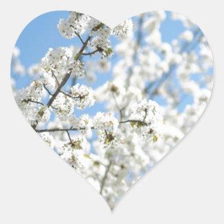 White Purity Heart Sticker