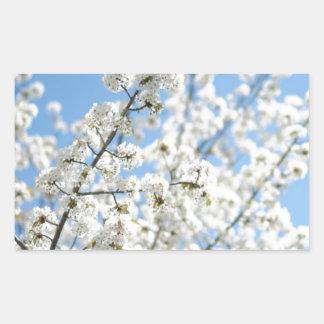 White Purity Rectangular Sticker